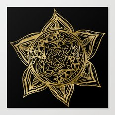 Zen Gold, Mandala 2 Canvas Print