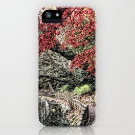 Inokashira Park in the Fall, Tokyo, Japan iPhone Case