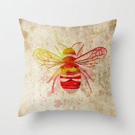 Watercolor Bumblebee Throw Pillow