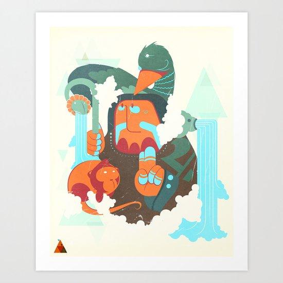Mayan priest Art Print