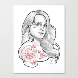 Skateboarding Girl #3 Canvas Print
