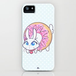 Bunnies - donut iPhone Case