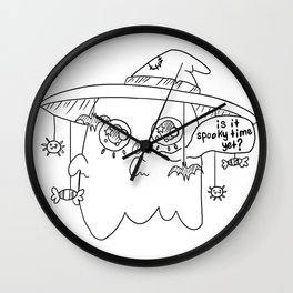 Impatient Ghosty Wall Clock