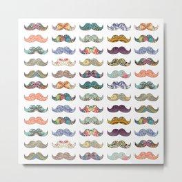 Mustache Mania Metal Print