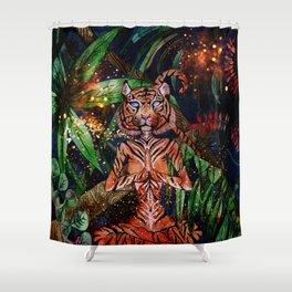 Mystic Tigress Shower Curtain