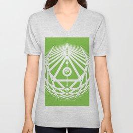 Radiant Abundance (green-white) Unisex V-Neck