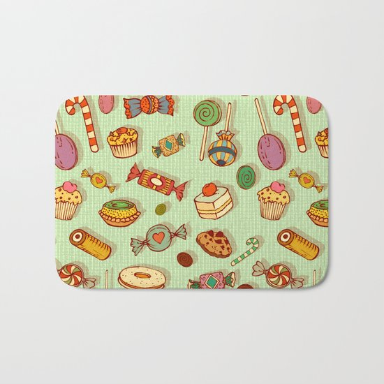 candy and pastries Bath Mat