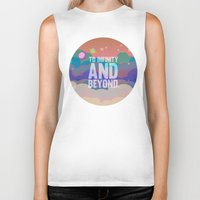 buzz lightyear Biker Tanks featuring to infinity and beyond.. toy story.. buzz lightyear by studiomarshallarts