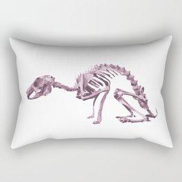 Purple Animal Skeleton Rectangular Pillow