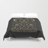 occult Duvet Covers featuring Madame Magique by Carly Watts