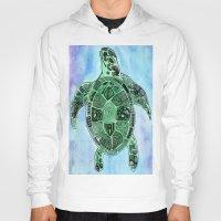 tatoo Hoodies featuring Tatoo Sea Turtle by PepperDsArt