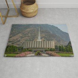 Provo Utah Mormon Temple Latter Day Saints Church Rug