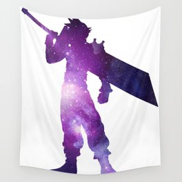 Purple Space Cloud Strife Wall Tapestry