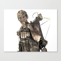 daryl Canvas Prints featuring Daryl TWD by Yousef
