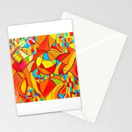 Orange Mayhem Stationery Cards