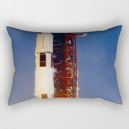 The photograph of the Saturn V launch vehicle (SA-506) for the Apollo 11 mission liftoff on July 16 Rectangular Pillow