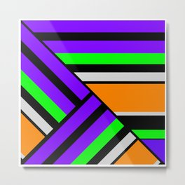 Geometric pattern, Striped triangles 4 Metal Print
