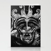 mythology Stationery Cards featuring Shadow Beast Mythology by Anya Campbell by BohemianBound
