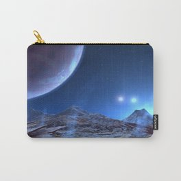 Extraterrestrial Landscape : Galaxy Planet Blue Carry-All Pouch