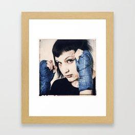 A thinker, A warrior, A Leader Framed Art Print
