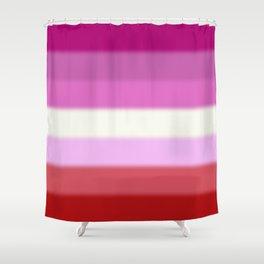 Lesbian Pride Flag Shower Curtain