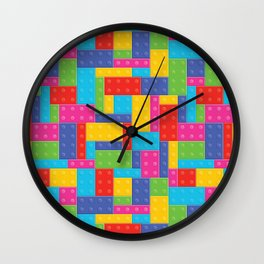 Building Blocks LG Wall Clock
