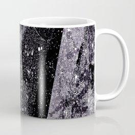 Glitter Silver Star Gaze Black White Retro Vintage Coffee Mug
