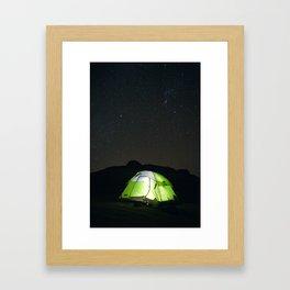 Camping Under Stars Framed Art Print