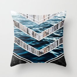 Striped Materials of Nature III Throw Pillow