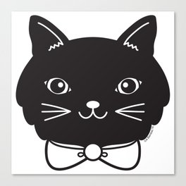 Dapper Black Kitty Cat Canvas Print