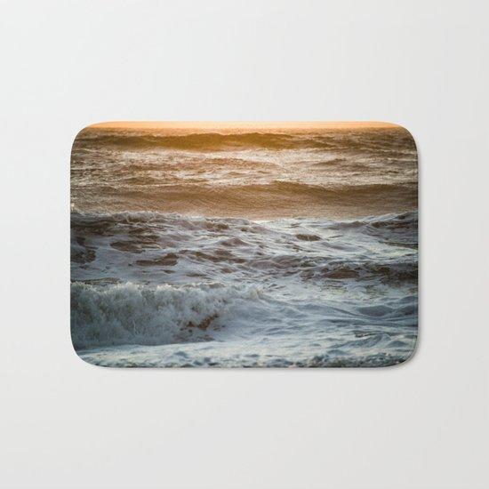 Coral Ocean Sunset Bath Mat