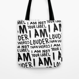 Louder Than Words - 90s ALT GRAHICS Tote Bag