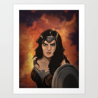 Night in the Flames Art Print