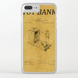 Toy Bank Patent 1 Clear iPhone Case