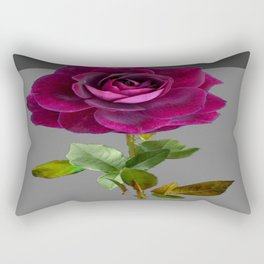 Decorative Purple Velvet  Rose Charcoal Grey Designs Rectangular Pillow