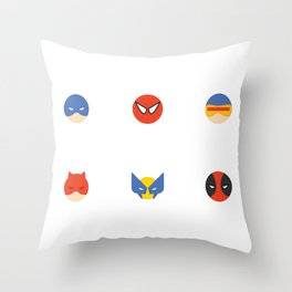 My Favorite Superheroes Throw Pillow