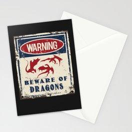 Dragons Warning Beware Stationery Cards