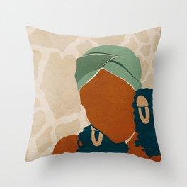 Head Wrap No. 1 Throw Pillow