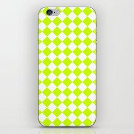 Diamonds - White and Fluorescent Yellow iPhone Skin