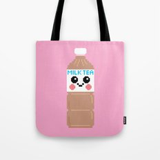 Happy Pixel Milk Tea Tote Bag