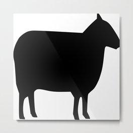 Sheep Silhouette Metal Print