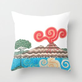 vesuvio con pino Throw Pillow