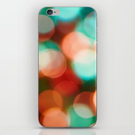 Abstract holiday background iPhone Skin