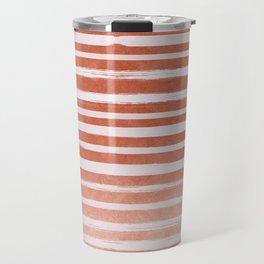 Copper Foil Stripes Travel Mug