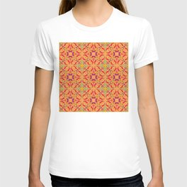 Chrysanthemum Abstract Mix- Tan 2 T-shirt