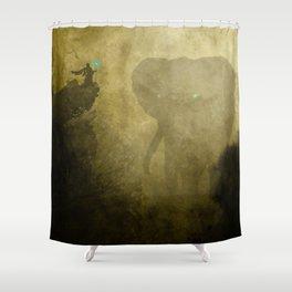 Elephant Caller Shower Curtain