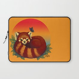 Red Panda Has Blue Butterfly Friend Laptop Sleeve