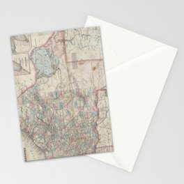 Vintage Map of Texas (1870) Stationery Cards
