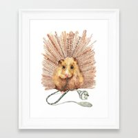 hamster Framed Art Prints featuring Hamster by Creative Stace