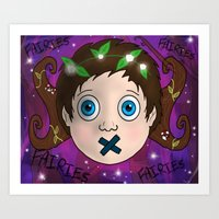 fairies Art Prints featuring Fairies! by Grace Isabel